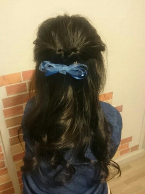入学式髪型1