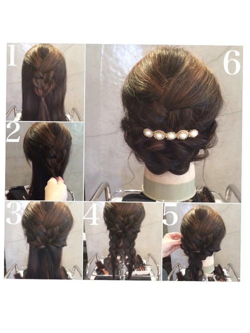 結婚式髪型1