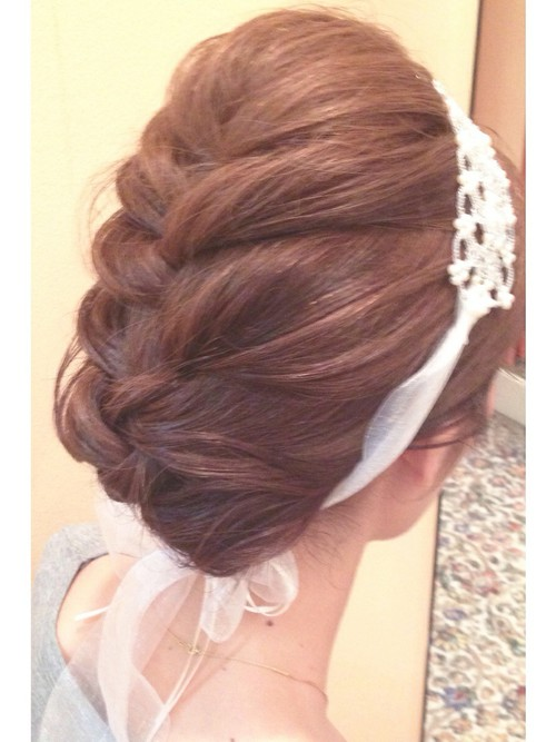 結婚式髪型3