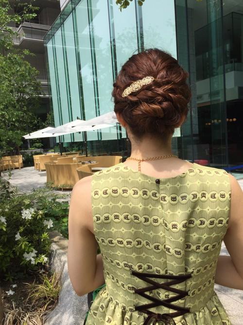 結婚式髪型2