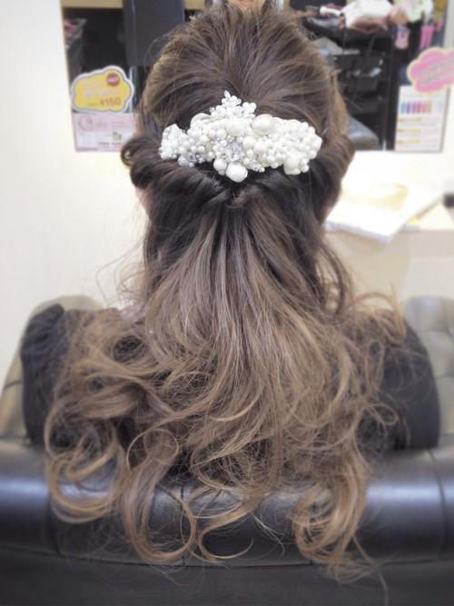 結婚式髪型5