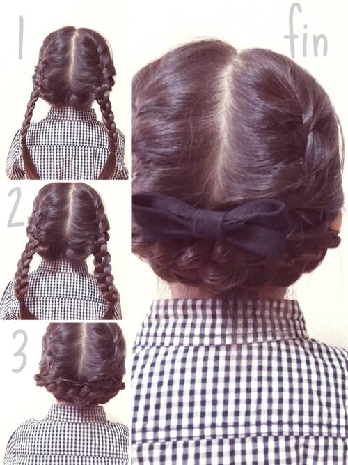 小学校卒業式髪型1