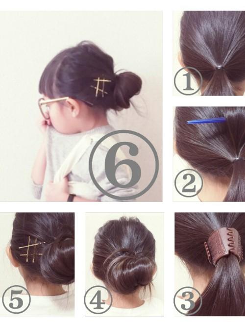 小学校卒業式髪型5