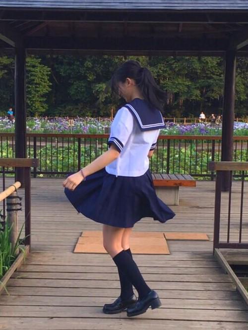 中学校入学式髪型1