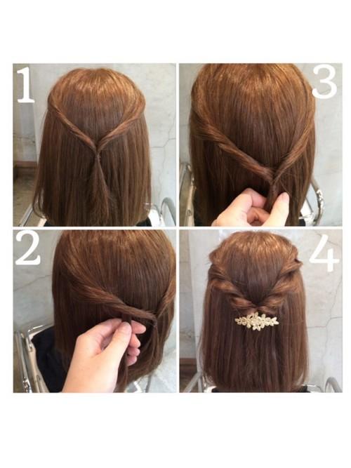 高校入学式髪型5