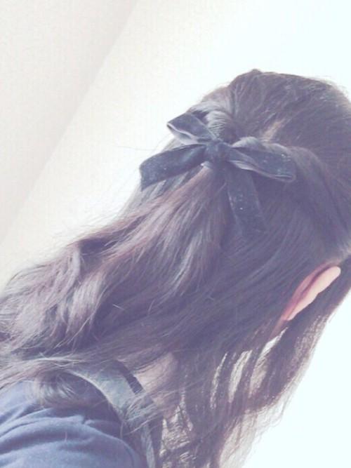 中学校卒業式髪型3
