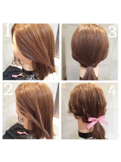 高校卒業式の髪型1